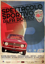 Alfa Romeo Giulia Sprint GTA Bertone Zandvoort Circuit Poster Mint 70cm x 50cm