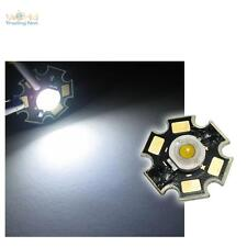 10 X haute tension LED Puce 3W BLANC PUR Haute Puissance étoile