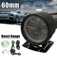 Kit Universel 12V Ø 60mm Manomètre Pression Turbo Boost Gauge Digital & Support