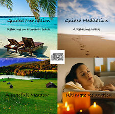 4 x Guided Meditation Relaxation Sessions stress relief help sleep calm CD 042