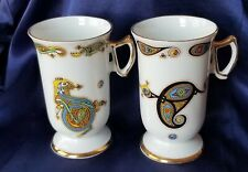 2 Royal Tara Book Of Kells Mugs. Letter D And C