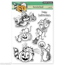 New Penny Black RUBBER STAMP clear BEWITCHED HALLOWEEN CAT set free us ship