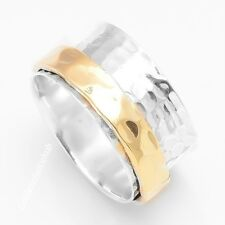 "925 Sterling Silver Wide Band Meditation Ring Statement Spinner Size-10"" RSG-010"