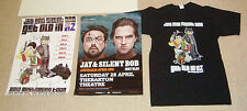 RARE POSTER LOT JAY AND SILENT BOB GET OLD IN OZ  2012 TOUR SIGNED + SHIRT