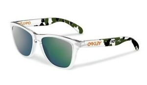 NEW Oakley Frogskins Eric Koston Signature Series Clear / Emerald Iridium 24-436