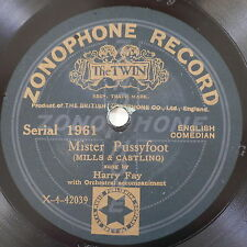 78rpm HARRY FAY mister pussyfoot / p p percy