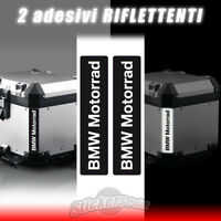2 adesivi BMW MOTORRAD riflettenti stickers BAULETTO GS R1200 R1250