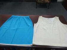 St.John Sport Pencil Skirt L + Beige Top Size L