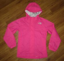 Girl's THE NORTH FACE Hyvent Zipline Hooded Rain Coat Jacket Small 7/8 Hot Pink