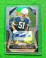 JOEJUAN WILLIAMS PRIZM AUTO ROOKIE CARD PATRIOTS 2019 PANINI PRIZM FOOTBALL RC