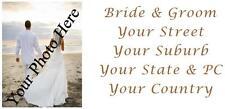96 LARGE PERSONALISED WEDDING INVITATION RETURN ADDRESS LABEL STICKERS PHOTO