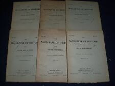 1914-1915 MAGAZINE OF HISTORY WITH NOTES AND QUERIES LOT OF 12 DIFFERENT- O 168