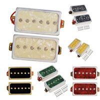 Pack of 2 Double Coil Metal Electric Guitar Pickups Humbucker Guitar Parts