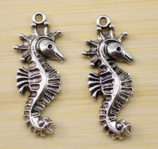 12/25/50 pcs very beautiful Tibet silver hippocampus charm pendant  37x16 mm