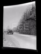 1940s Packard Car On Mountain Road NY Old Photo Negative 399B