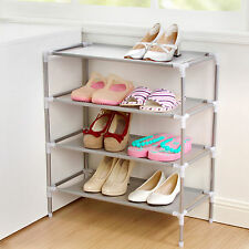 4 Tier Shoe Storage Rack Stand Organiser Cabinet Shelf Easy Assemble 12 Pairs