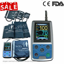 CONTEC 24hour Ambulatory Blood Pressure monitor Arm NIBP holter+PC SW,Six cuffs
