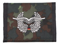 German Air Force Wings Camo Men Nylon Bifold Velcro Wallet Embroidered Germany