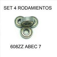 SET 4 x 608ZZ ABEC-7 rodamiento rígido de bolas 8*22*7mm 3D impresora Skateboard