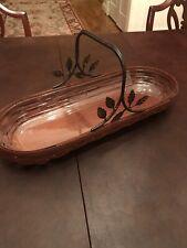 Longaberger Artisan Bread Basket Wrought Iron Handle in Dark Brown