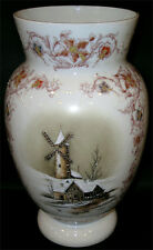 BRISTOL GLASS WINTER SCENE VASE