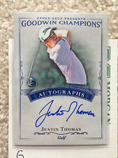 2016 GOODWIN CHAMPIONS JUSTIN THOMAS RC AUTO CARD  2017 PGA Winner (G)