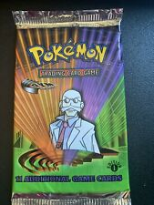 Pokemon 1st Edition Gym Challenge Sealed Pokemon Booster Pack. Blaine Art. MINT