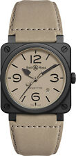 BR-03-92-DESERT-TYPE | BELL & ROSS AVIATION | NEW AUTHENTIC AUTOMATIC MENS WATCH