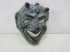 Retro Terra Cotta Small Devil Face Mask