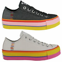 Converse Chucks All Star Lift Ox Plateau Pride Damen-Sneaker Turnschuhe Low