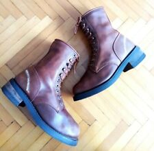 Womens Brown Harley Davidson Lace-up Boots Size 4 UK 37 EU