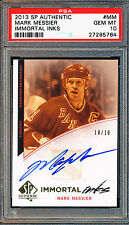2013 SP AUTHENTIC MARK MESSIER IMMORTAL INKS AUTO #MM PSA 10 GEM MINT POP 1