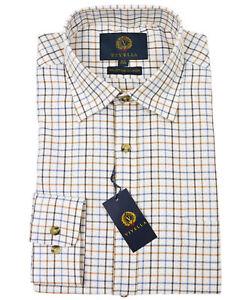 Viyella Russet Tattersall 80/20 Cotton Wool Blend Shirt