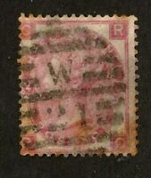 Great Britain stamp #44, used, wmk. 24,  Queen Victoria, 1865, SCV $215