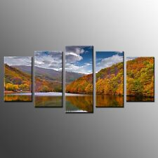 FRAMED Water Forest Giclee Canvas Prints Poster Home Wall Art Decor-5pcs