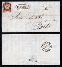 1859 Cover from Famalicão to Porto. With D. Pedro V, 25 reis stamp, pink. Af#13.