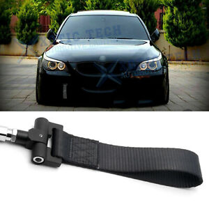 JDM Black Track Racing Tow Strap Hook For BMW Exx 1/3/5/6/X5/X6 Z3 Z4 Series