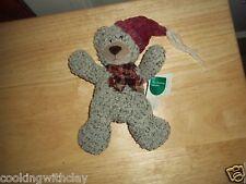 New Rare Retired Christmas Sampler Russ Cordy Teddy Bear Plush Doll Figure Toy