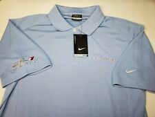 NEW Nike Chevy Camaro ZL1 Medium S/S Polo Shirt Blue Dri Fit Chevrolet GM