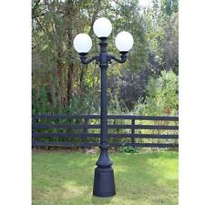 Three Ball Pole Light Street Fixture Antique Style Outdoor