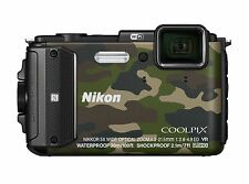 Nikon Coolpix Aw130 Digital Compact Waterproof Tough Camera Camouflage