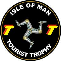 Isle of Man TT Races Roundel Black Exterior Decals Vinyl Motorbike Car Stickers