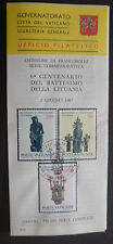 Vatican City Sc#785-7 FDC on Offical Bulletin, Christianization of Lithuania