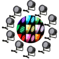 10PCS 86 RGB LED STAGE LIGHT PAR DMX-512 LIGHTING LASER PROJECTOR XMAS DJ LIGHT