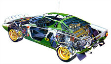 Lancia Stratos Rally Cutout Over 1 Meter Wide 1 Piece XXL Poster! **UK SELLER**