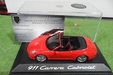 PORSCHE 911 997 Carrera cabriolet rge 1/43 MINICHAMPS GRAN CANARIA 2012 voiture