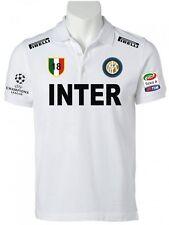 POLO INTER CHAMPIONS LEAGUE t-shirt maglietta maglia calcio serie A tim BIANCA