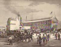 1883 Harpers Weekly-Brooklyn suspension Bridge entrance