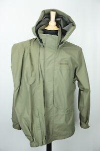 Simms Gore Tex Paclite Waterproof Green 2 Pc Rain Suit Jacket Pants Sz S MINT