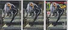 2016 Marvel Masterpieces #33 BLACK CAT Base, Gold, What If (3 card lot) Low Ship